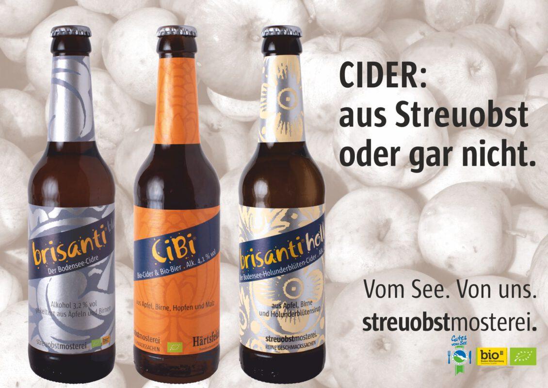 Drei Sorten Cider