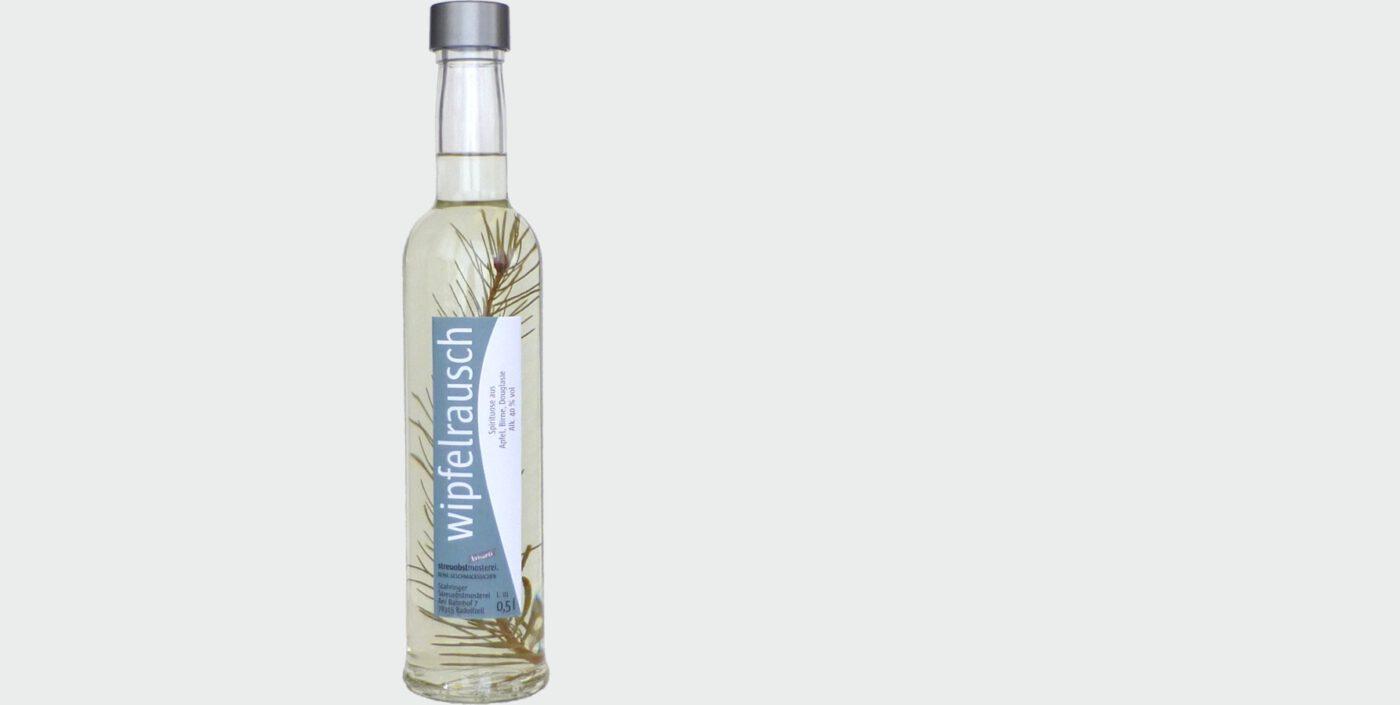 Wipfelrausch: Apfel-Birenen-Brand mit Douglasienzweig